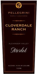 Pellegrini Family Vineyards Merlot Cloverdale Ranch